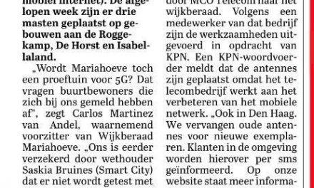 Artikel 5G Telegraaf 17 oktober 2019
